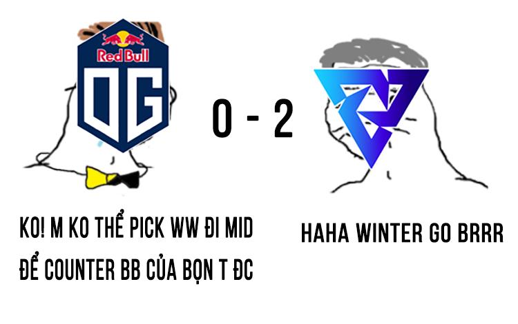 """Winter Wyvern bắn """"piu piu"""", tiễn OG xuống nhánh thua tại vòng loại TI10"""