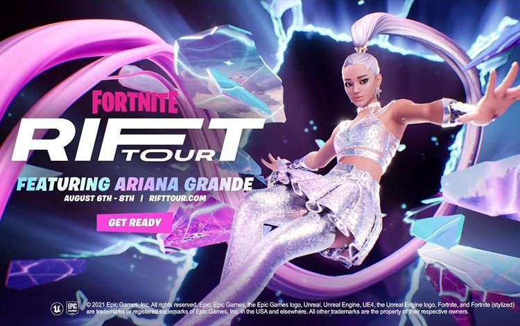 Ariana Grande sẽ tổ chức buổi biểu diễn âm nhạc trong game Fortnite