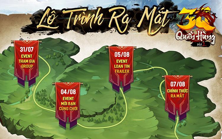 3Q Quần Hùng Mùa 2 ấn định ngày ra mắt, cộng đồng game thủ nôn nóng mong chờ đến ngày có thể cày game