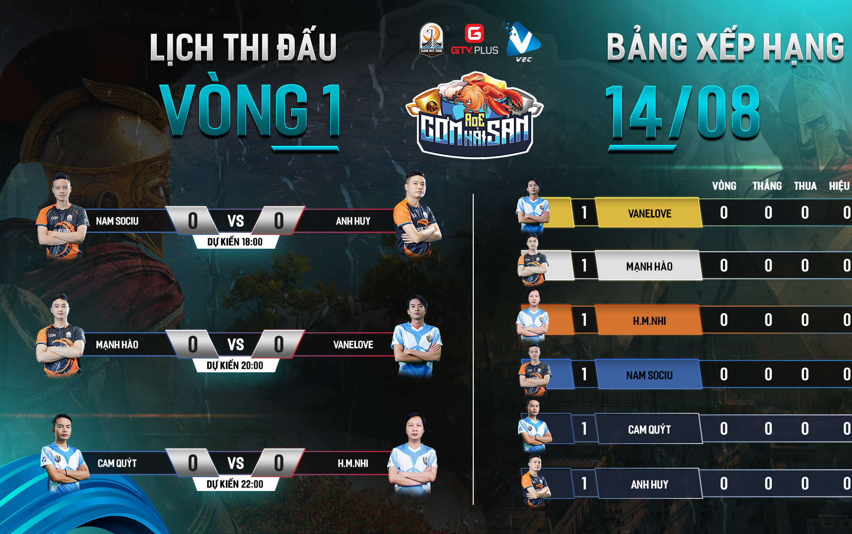AoE Cơm Hải Sản vòng League ngày thi đấu thứ nhất: Vanelove vs Mạnh Hào - Cuộc đối đầu của hai cái tên cá tính