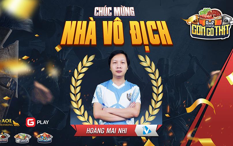 Chung kết đầy kịch tính và nghẹt thở, Hoàng Mai Nhi lên ngôi vương tại giải đấu AoE Cơm Có Thịt lần 2