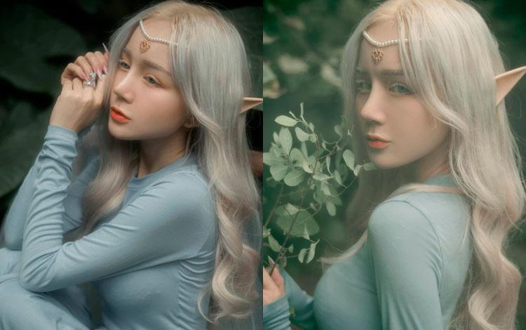 Hóa thân thành nữ thần, hot girl Nghệ An chẳng cần khoe