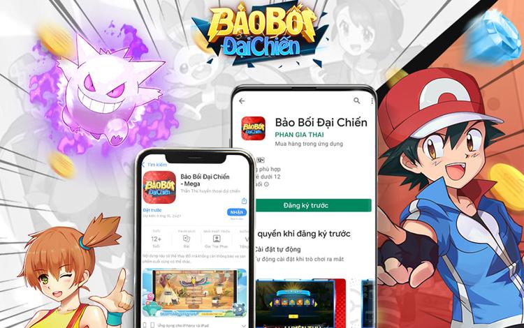 Tựa game Pokemon đáng chơi nhất trong năm Bảo Bối Đại Chiến mở đăng ký trước trên hai hệ thống App Store và Google Play