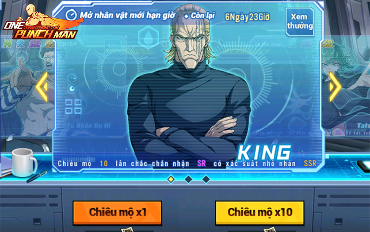 One Punch Man: The Strongest ra mắt anh hùng King