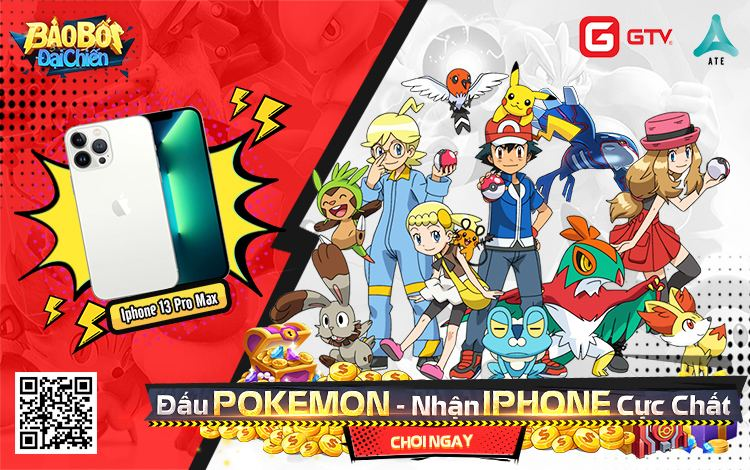 Cơ hội lớn để rinh iPhone 13 Pro Max khi tham gia sự kiện chia sẻ landing của tựa game Pokemon đáng chơi nhất trong năm
