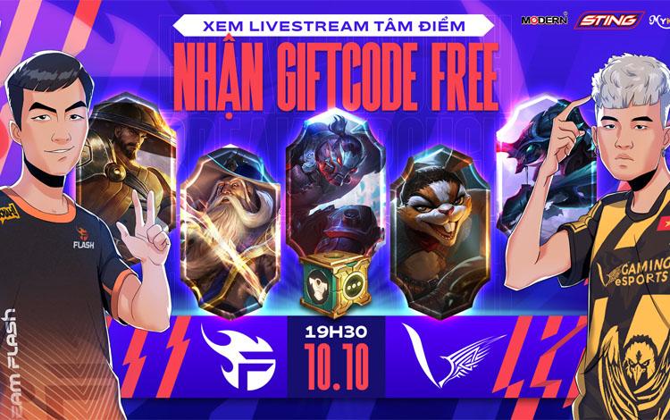 Xem tâm điểm vòng 8 Team Flash vs V Gaming - Nhận GiftCode Free