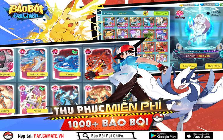 Cùng ngắm nhìn dàn bảo bối Pokémon cực chất trong Bảo Bối Đại Chiến