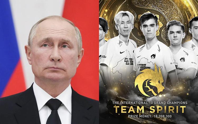 Tổng thống Nga Putin gửi lời chúc đến Team Spirit sau chức vô địch TI10