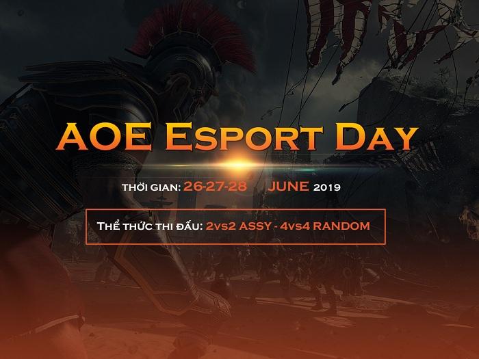 [AoE] Nội dung 4vs4 Random giải đấu AoE Esport Day: Căng thẳng và Khốc liệt