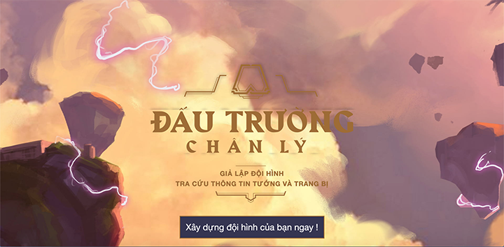 [LMHT - Đấu trường Chân Lý] Xuất hiện website lắp ghép đội hình trang bị giao diện Tiếng Việt được thiết kế bởi fan Việt Nam