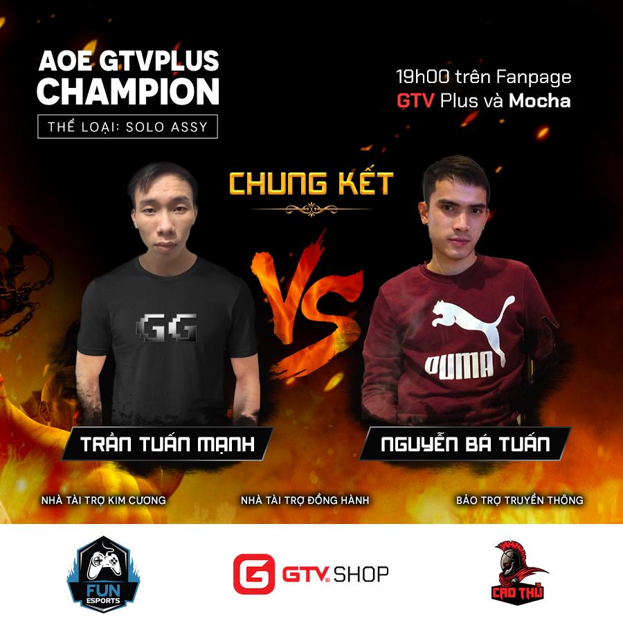 [AoE] Nguyễn Bá Tuấn: ''Cơ hội vô địch giải đấu AoE GTV Plus Champion của mình và đối thủ là 50-50''