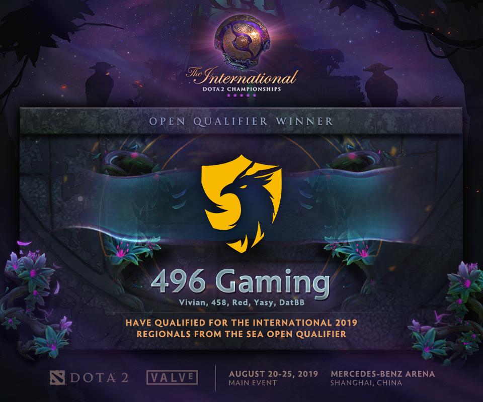 [DOTA 2] 496 Gaming làm nên kì tích, chính thức góp mặt tại vòng loại khu vực của The International 2019