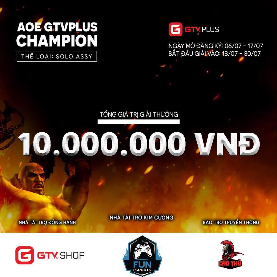 [AoE]Giải đấu AoE GTV Plus Champion : Chính thức chốt danh sách và các bước chuẩn bị trước thềm giải.