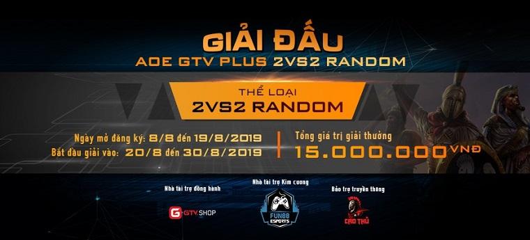 [AoE] AoE GTV Plus 2v2 Random: Chiến thắng thuyết phục 6789, Hà Giang Bắc Ninh chính thức đăng quang.