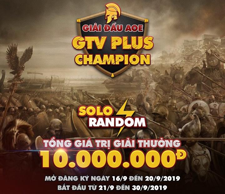 GTV PLus chính thức công bố giải đấu AoE GTV Plus Champion
