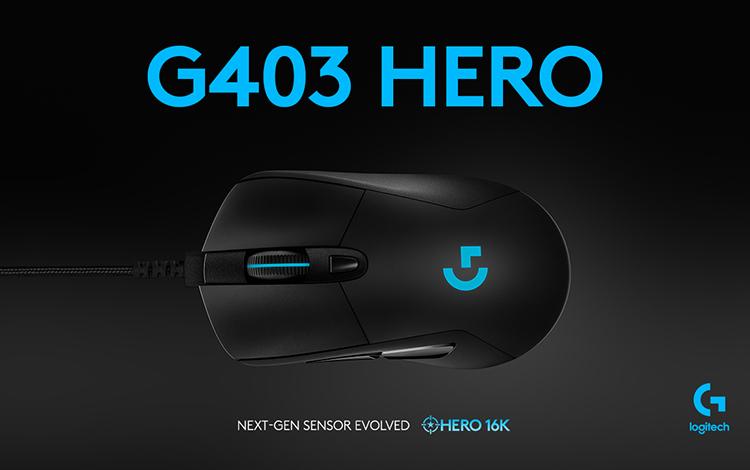 Gaming Mice đáng mua: Logitech G403 Hero