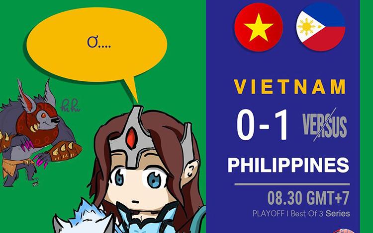 Dota 2 Việt Nam gặp khó khăn ở trận chung kết nhánh thắng