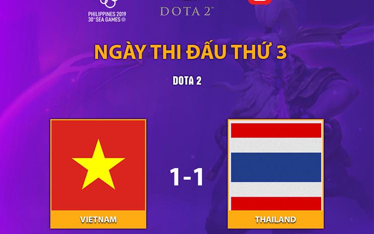 Bất phân thắng bại với người Thái, Dota 2 Việt Nam chia sẻ ngôi đầu bảng A tại SEA Games 30