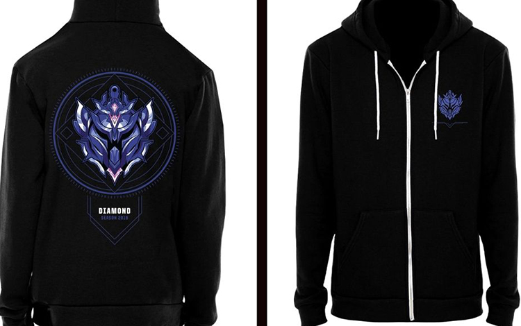 Riot Games tung mẫu áo có cả tên lẫn bậc rank của người chơi