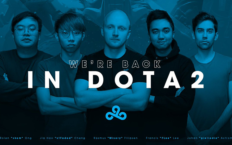 Tổ chức Cloud9 chính thức trở lại với Dota 2 chuyên nghiệp