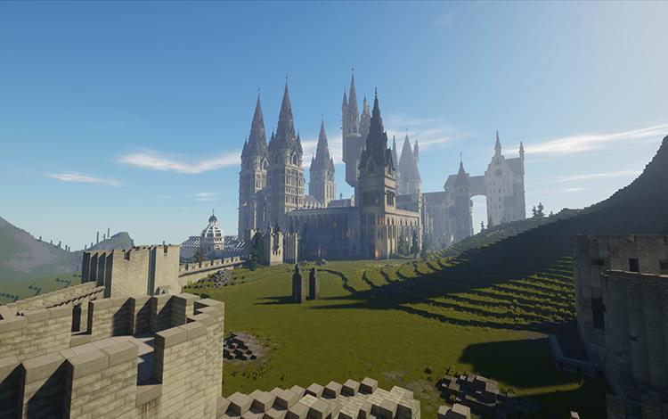 Choáng ngợp trước khung cảnh tráng lệ của thế giới Harry Potter phiên bản Minecraft