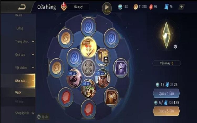 Vòng quay kho báu trở lại rất nhiều game thủ đã nhận được phần thưởng trong vòng quay