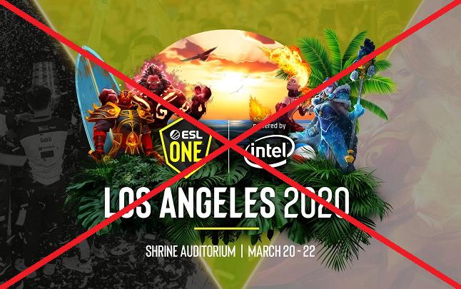 Vòng loại ESL One Los Angeles khu vực Trung Quốc bị hoãn vì đại dịch Corona