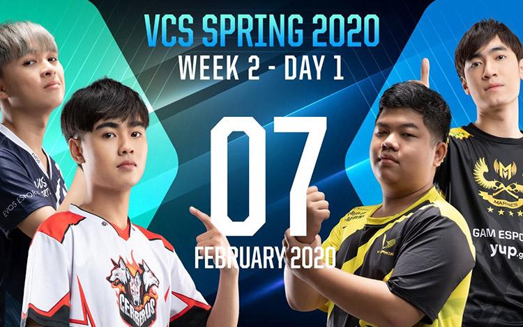 Ngày thi đấu đầu tiên tuần thứ 2 VCS mùa xuân 2020: GAM thể hiện sức mạnh tuyệt đối