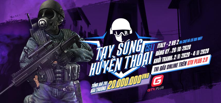 Mở cổng đăng ký giải đấu Counter Strike - Tay súng huyền thoại CS 1.1